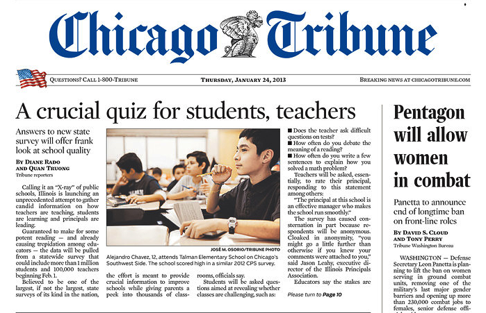 Chicago Tribune: Illinois 5Essentials Survey