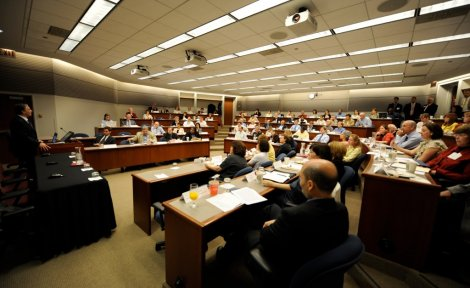 University of Chicago President Robert Zimmer gives welcoming remarks at the May 2009 Consortium convening