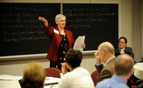 Consortium researcher Sue Sporte presents at the May 2009 convening.
