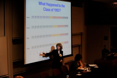 Consortium researcher Elaine Allensworth presents findings on CPS high school graduation rates