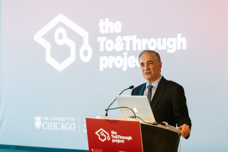 University of Chicago President Robert Zimmer gave remarks