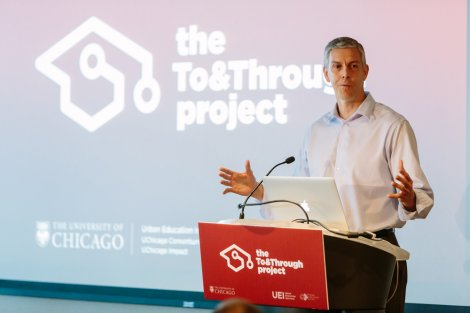 Former U.S. Secretary of Education Arne Duncan gave the keynote address