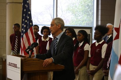 Mayor Rahm Emanuel speaks at the launch of The Success Project