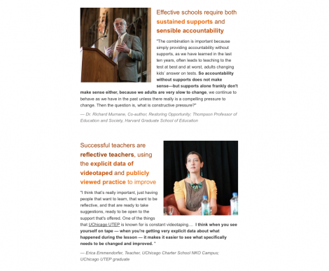 A snippet of the newsletter recap of the Restoring Opportunity Book Talk