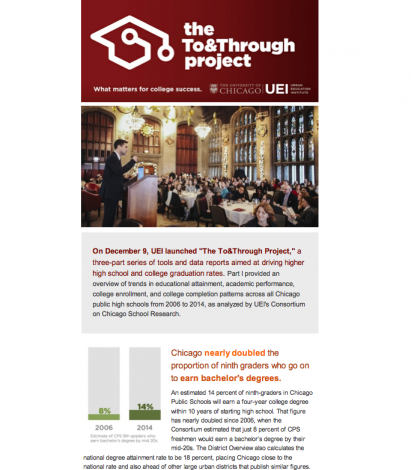 Newsletter sample: Recap of The To&Through Project Launch