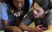 A tutor and student in the Match tutoring program.